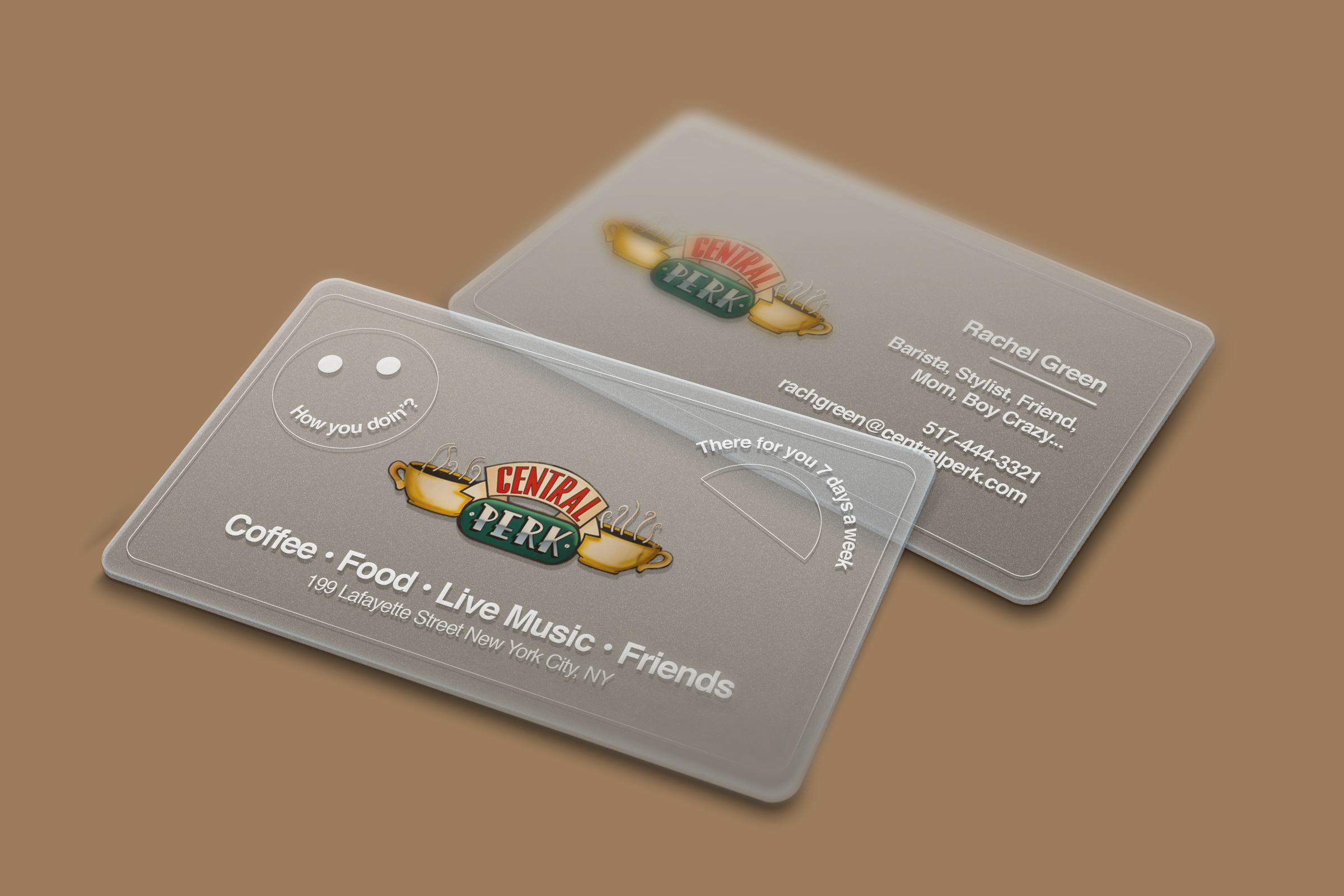 Central Perk Business Cards